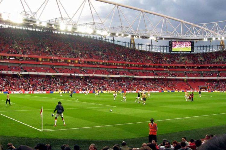 Het voetbalstadion